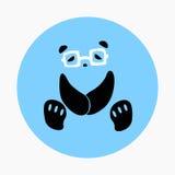 Panda Wearing Glasses Icon Vector Stockfotos