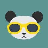 Panda wearing glasses. Royalty Free Stock Photography