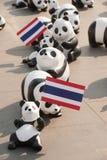Panda-Welttournee durch WWF am riesigen Schwingen, Bangkok Lizenzfreies Stockbild