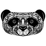 Panda on white background hand-drawing head. Vector Royalty Free Stock Images
