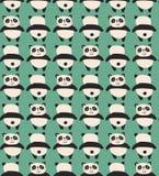 Panda wzór ilustracja wektor