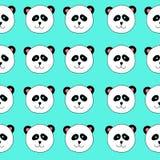 Panda wzór Zdjęcia Stock