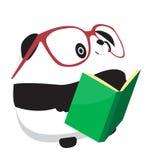 Panda y libro Ilustración del Vector