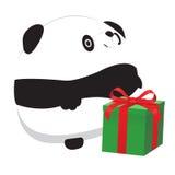 Panda y regalo Stock de ilustración