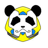 Panda Yellow Robot Imagem de Stock