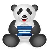 Pandaanmeldung Lizenzfreies Stockfoto