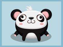 Pandabeeldverhaal Grappig beeldverhaal en vector dierlijke karakters Stock Afbeeldingen