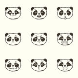 Pandaemoties Royalty-vrije Stock Foto