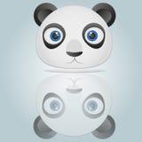 Pandahuvud på blå bakgrund royaltyfri illustrationer