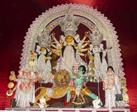 pandal的女神杜尔加在加尔各答 库存照片