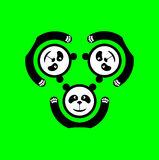 Pandalogo Fotografering för Bildbyråer