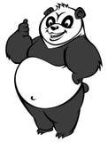 Pandamaskot Arkivfoton