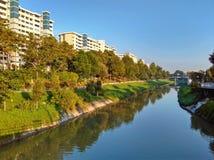 Pandan河,新加坡 免版税库存照片