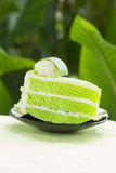 Pandan cake Stock Photography