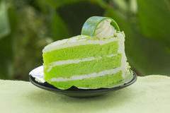 Pandan cake Stock Photo