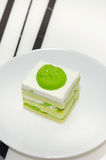Pandan cake Stock Photos