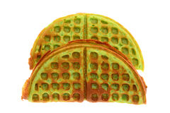 Pandan Favored Waffle Royalty Free Stock Photo