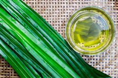 Pandan Juice In Glass Image stock