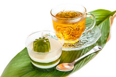 Pandan koks i gorąca herbata Fotografia Stock