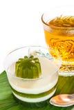 Pandan koks i gorąca herbata Obraz Stock