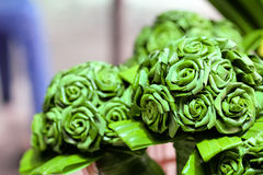 Pandan leaves a bouquet of flowers Stock Image