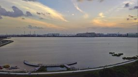 Pandan reservoir. Is next to Jurong industrial estate in Singapore Royalty Free Stock Photo