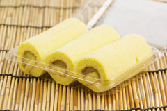 Pandan roll cake Royalty Free Stock Images