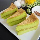 Pandan sponge cakes Royalty Free Stock Images