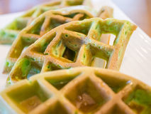 Pandan waffle, backgound concept. Stock Images