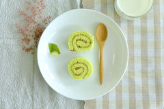 Pandanus leaf Cake roll Stock Photos
