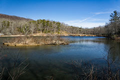 Pandapas Pond. Located in the George Washington and Jefferson National Forest, Giles County, Virginia, USA Royalty Free Stock Photos