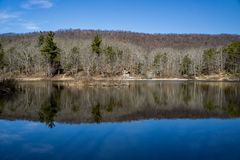Pandapas Pond. Located in the George Washington and Jefferson National Forest, Giles County, Virginia, USA Royalty Free Stock Image