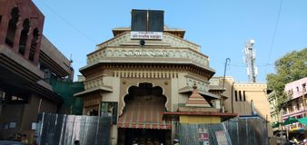 Pandaripur temple. Snap taken from outside entrance of temple stock images