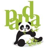 Pandas. Asia panda and a bamboo Royalty Free Stock Photos