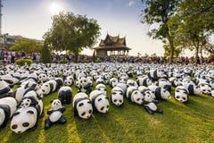 1600 Pandas Lizenzfreies Stockfoto