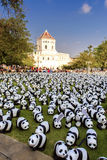 1600 pandas Fotografía de archivo libre de regalías