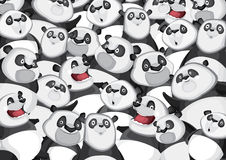 Pandas background pattern Royalty Free Stock Images