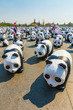 1600 Pandas campaign start showcase at Sanam Luang Bangkok by WWF Stock Images