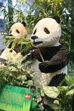 Pandas de LEGO images libres de droits