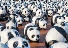 Pandas de tour du monde 1600 à Bangkok Photographie stock