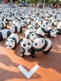 Pandas de tour du monde 1600 à Bangkok Image libre de droits