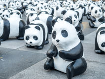 Pandas der Welttournee 1.600 in Bangkok Stockfotografie