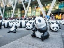 Pandas der Welttournee 1.600 in Bangkok Stockbild
