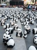 Pandas der Welttournee 1.600 in Bangkok Lizenzfreies Stockbild