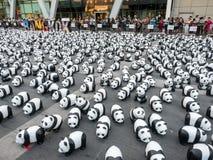 Pandas der Welttournee 1.600 in Bangkok Stockbilder