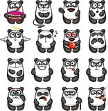 Pandas drôles (1) illustration stock