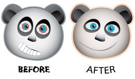 Pandas face expression Royalty Free Stock Images