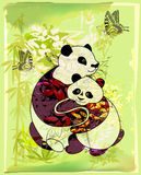 Pandas family Royalty Free Stock Images