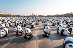 1,600 Pandas World Tour in Bangkok, Thailand Royalty Free Stock Photography