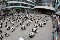 1600 Pandas World Tour in Hong Kong Royalty Free Stock Image